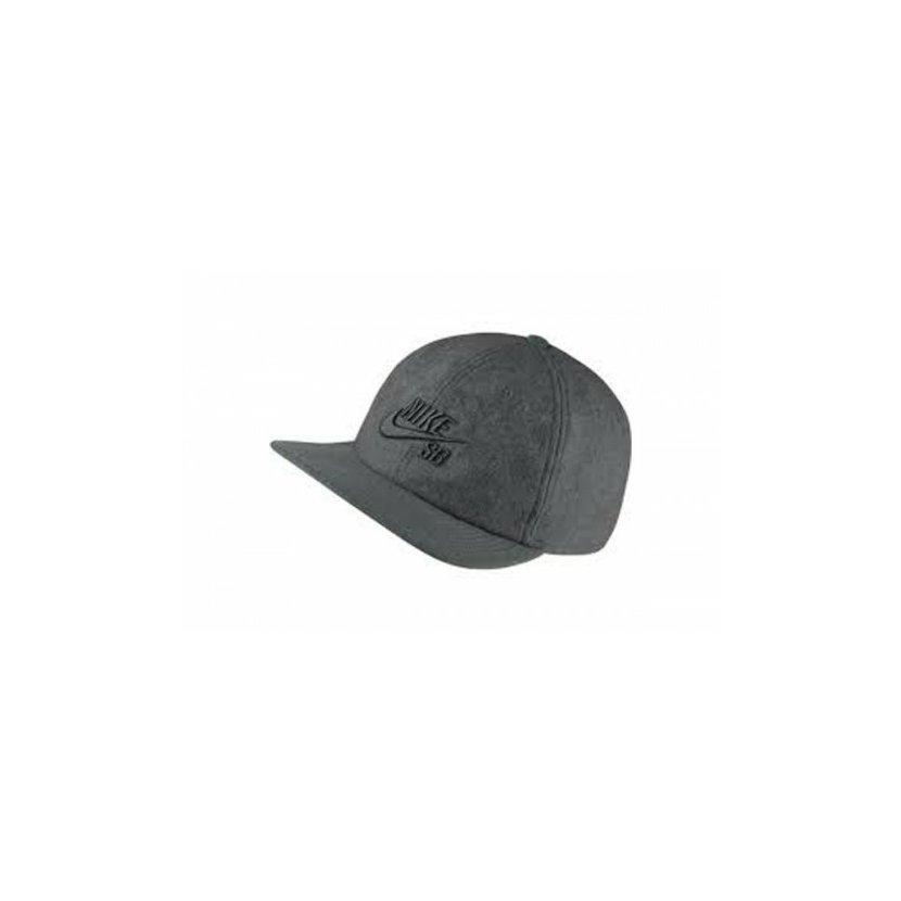 c4433c679ba Tmavě šedá kšiltovka Nike SB Vintage Strapback s rovným kšiltem.